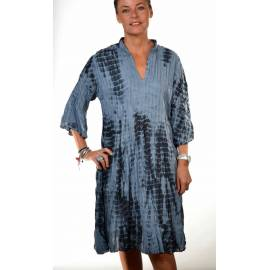 Robe plissee tie & dye