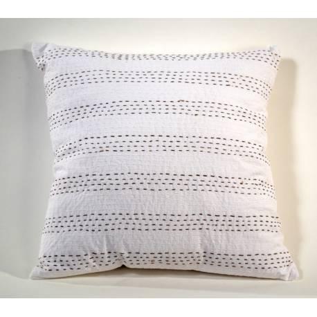 Housse de coussin blanc coussin canap zen ethic for Miroir 60x150